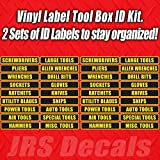 Tool Box Label Decal Sticker Set. Organization Label Set for Toolbox.
