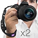 (2016 Update) (2 Pack) Rapid Fire™ Heavy Duty Safety Wrist Strap by Altura Photo w/ 2 Alternate Connections for Use w/ Large DSLR or Point & Shoot Cameras