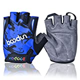 iwish New Style Child Thin Half Finger Outdoor Sports Cycling Bike Gloves kids gloves Blue-Large