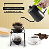 Coffee Pouring Pot 20OZ BEMINH Stainless Steel Coffee Tea Making Kettle Gooseneck Pour Over Drip Teapot Espresso Coffee Pouring Kettle with Non-Drip Spout for Home and Office,600ML