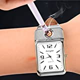 Ckeyin Quartz Watch USB Charging Electronic Flameless Windproof Cigarette Lighter