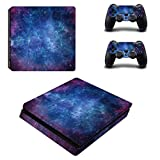 UUShop PS4 Slim Skin Vinyl Decal Cover for Sony PlayStation 4 Slim PS4 Console Sticker Nebular