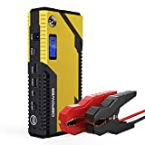 DBPOWER 500A Peak 12000mAh Portable Car Jump Starter Auto Battery Booster Phone Power Bank with Smart Charging Port, Compass & LCD Screen and LED Flashlight, for Engines up to 3L Gas and 2.5L Diesel