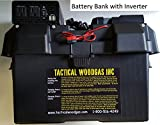Battery Bank with 120V_Inverter/USB/12V outputs and solar/AC/car charging