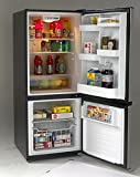 Avanti FFBM102D3S Bottom Mount Frost Free Freezer/Refrigerator, Black with Stainless Steel Doors