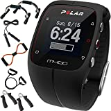 Polar M400 GPS Smart Sports Watch Black + Sharper Image 7-in-1 Total Resistance Fitness Kit
