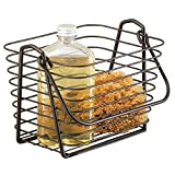 mDesign Bathroom Vanity Organizer Basket for Health and Beauty Products/Supplies, Lotion, Perfume - Bronze