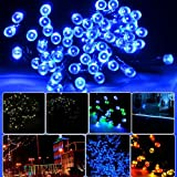 Lychee® 17m 100 LED Solar Christmas String Solar Fairy String Lights for Outdoor Room Garden Home Christmas Party Decoration Waterproof (Blue)