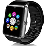 Zomtop SW-08-1 Sweatproof Smart Watch Phone for iPhone 5s/6/6s and 4.2 Android or Above SmartPhones(Black)