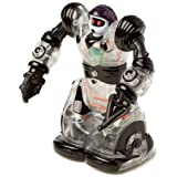 WowWee Build-Up RC Mini Robosapien Robot: DIY Educational Construction Toy with Remote Control Clear Black