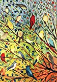 Toland Home Garden 119537 Toland-Tree Birds-Decorative Colorful Bright Collage Fall Autumn Spring USA-Produced Garden Flag