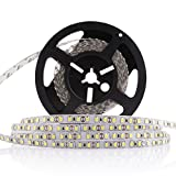 LEDMO Flexible LED Strip Lights,Super Bright 600 LEDs, Non-Waterproof, DC12V LED Light Strips,Daylight White 6000K,16.4Ft/5M, 15 Lumens/ft, 2.2 watts/ft, LED Tape For Gardens/Homes/Kitchen/Cars/Bar