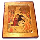 Nativity of our Lord Icon with sheets of Gold (Lithography) (9x7 inches)