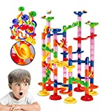 WTOR Marble Run Coaster Railway Toy Marble Adventure New Challenge Game 105 Pieces Marbles Race Game Learning Railway Construction Maze Toy Game Construction Learning Toys for Kids Children Students,DIY Intellectual Building Toy for Educational and Creati