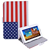"HDE Universal 7"" Leather Tablet Case Cover Protective Folding Folio Stand (American Flag)"