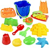 Click N Play Sand Castle Mold Beach Toy Set For Kids, 13 Piece