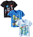 Disney Little Boys' Toy Story 3 Pack Tees, Multi, 4T