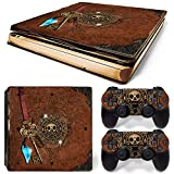 Ps4 Slim Playstation 4 Console Skin Decal Sticker Old Book Treasure + 2 Controller Skins Set (Slim Only)