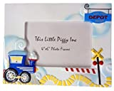 This Little Piggy Ceramic Tabletop Train Depot Photo Frame