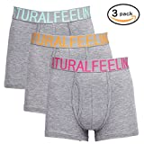 Boxer Briefs, Cotton Mens Underwear Men Pack of 3 with Open Fly, 3 Colors,S