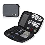 Hynes Eagle Travel Universal Cable Organizer Electronics Accessories Cases For Various USB, Phone, Charge and Cable Grey