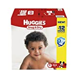 Huggies Snug and Dry Diapers, Size 3, Economy Plus Pack, 222 Count (One Month Supply)