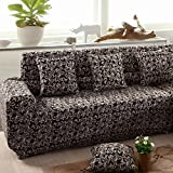 yazi White Butterfly Spandex Fabric Sofa Slipcover Furniture Couch Protector Cover Four Seater 92.5-118inch