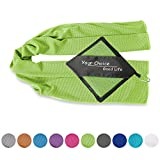Cooling Towel for Instant Relief- Cool Sports Towel for Fitness, Yoga, Golf, Exercise, Gym, Bowling, Football, Tennis, Workout & More Green 16x40 Inch