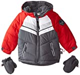 Rothschild Baby Boys' Chevron Colorblock Jacket, Pewter, 24 Months