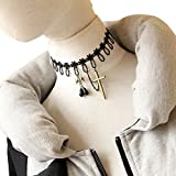 Black Lace Fake Collar Necklace Women 'S Clothing Accessories