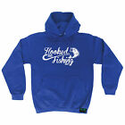Hooked On Fishing Drowning Worms HOODIE hoody birthday gift funny fish fishing