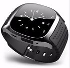 M26 Waterproof Bluetooth Smart Wrist Watch Phone Mate For Android iPhone Black