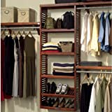 John Louis Home JLH 529 Premier 12 Inch Deep Closet Shelving System, Red