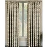 Allen Roth Callendale 84 In L Light Filtering Geometric Pearl Rod Pocket Window Curtain